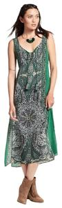 green Maxi Dress by Calypso St. Barth Paisley Silk Boho