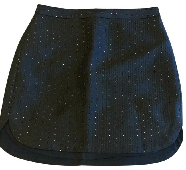 Item - Black and Gold Shirttail Skirt Size 0 (XS, 25)