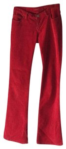 Miss Sixty Boot Cut Pants Red