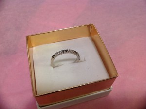 14k Black And White Diamond Band Ring