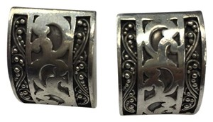 Lois Hill Lois Hill Sterling Silver Rectangular Clip Earrings