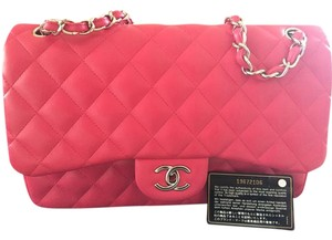Chanel Leather Jumbo Flap Shoulder Bag