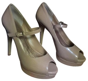 BCBG Paris Nude patent leather Platforms