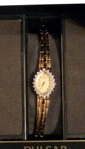 Pulsar New Gold tone Pulsar brand watch