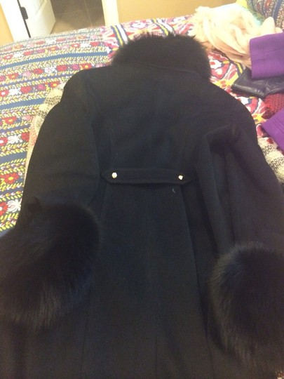 St. John By Marie Gray Fur Lined Coat - 67% Off Retail 85%OFF