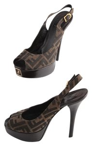 Fendi Heels Brown brown/black Platforms