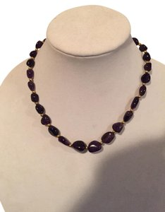 Amethyst Beaded Vintage Necklace