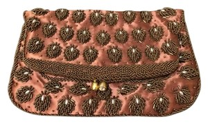 Other Bronze Gold Vintage Beaded Copper Clutch