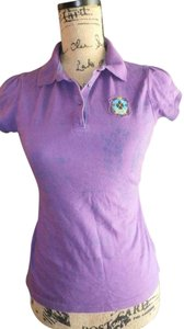 Arizona Womens Lacoste White Short Sleeve T Shirt PURPLE