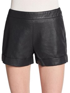 French Connection Leather Night Out Date Night Dress Shorts Black