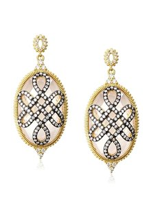 Belargo large oval love knot drop earings