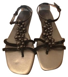 Calvin Klein Beaded Silver Cute Formal black Sandals