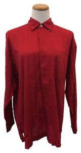 Issey Miyake Button Down Shirt Red