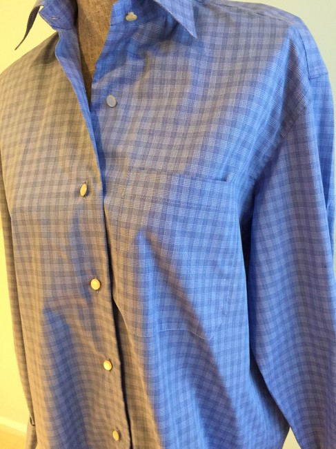 The Limited Tops Size 6 Tops Size Oversized Tops Size 6 Shirts Button Down Shirt Blue