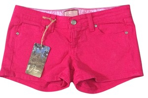 Paige Denim Mini/Short Shorts Bright Pink