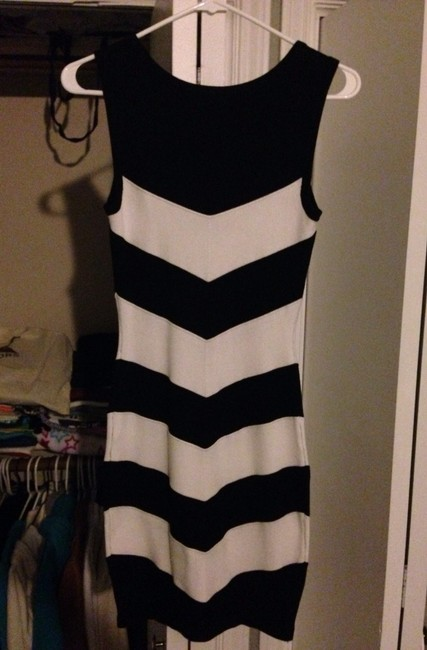 Guess short dress Black/ White on Tradesy