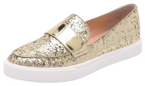 Kate Spade Gold & White Flats