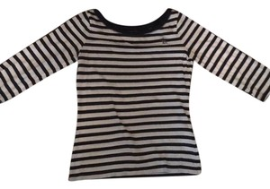abercrombie kids 3/4 Lenght Striped Cotton T Shirt Blue and white
