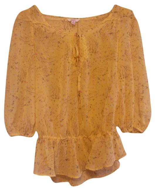 Preload https://item5.tradesy.com/images/candie-s-yellow-floral-sheer-blouse-size-2-xs-1694769-0-0.jpg?width=400&height=650