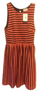Everly short dress ORANGE BLACK Skater Fit And Flare on Tradesy
