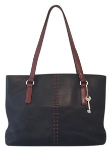 Fossil Tote in Black/brown
