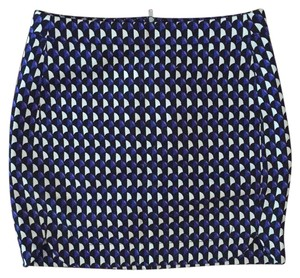 J.Crew Size 0 Work Wear Summer Mini Skirt Blue