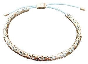 Fossil Fossil Silver Blue Leather Strap Bracelet