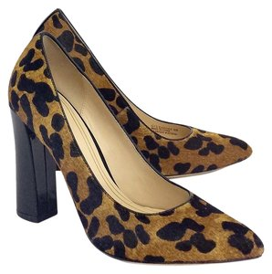Cole Haan Leopard Print Calf Hair Pumps