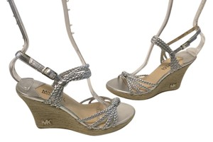 MICHAEL Michael Kors Silver rope espadrille Wedges