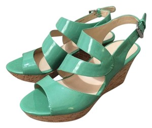 Nine West Green Blue Aqua Comfortable Teal Sandals