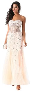 bebe Wedding Prom Sequin Gown Dress
