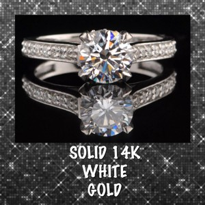 1.70ct Vvs1 Simulated Diamond 14k White Gold Filled Ring