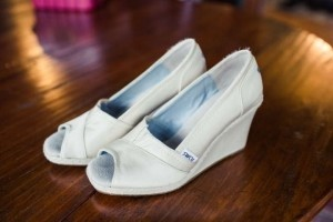 TOMS Ivory Wedges Size US 6