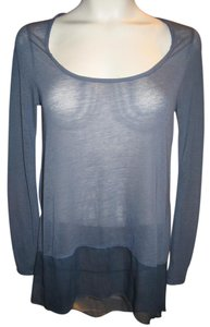Free People Sheer Scoop Neck Longsleeve Tunic