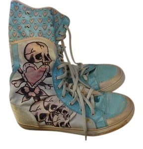 Ed Hardy multi pastels Boots