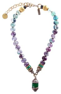 Masha Archer Masha Archer Purple & Green Beaded Necklace