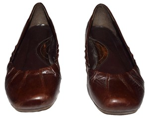 Kenneth Cole Reaction Leather Pleated Cute brown Flats