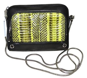 MILLY Watersnake Satchel Snakeskin Cross Body Bag