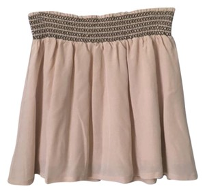 Ella Moss Mini Skirt Beige, tan