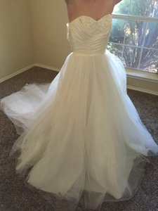 Alfred Angelo Diamond White/Silver Wedding Dress Size 4 (S)