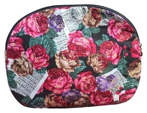 Oscar de la Renta Cosmetic Case Vintage Floral Travel Bag