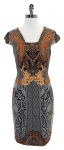 David Meister short dress Multi Color Print Cap Sleeve on Tradesy