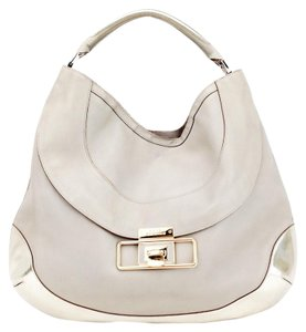 Anya Hindmarch Cooper Hobo Leather Metallic Shoulder Bag