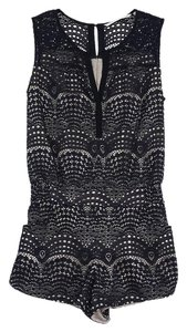 Twelfth St. by Cynthia Vincent Black Lace Romper Dress