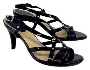 Cole Haan Black Strappy Leather Sandals