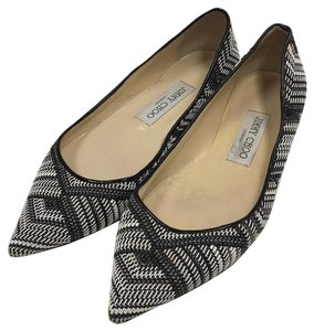 Jimmy Choo Black white and gray Flats