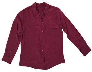 Vince Xs Work Wear Top Red