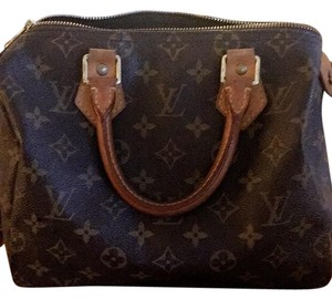 Louis Vuitton Leather Monogram Lv Classic Tote in monogrammed canvas