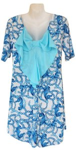 short dress blue, white New Tunic Back Bow Bow on Tradesy