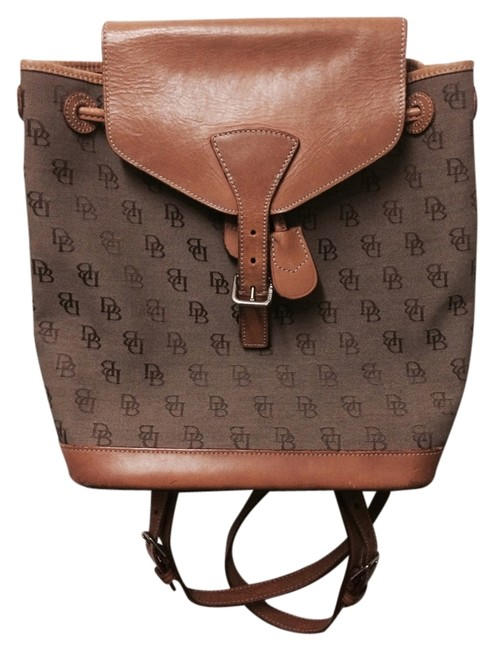 Item - Leather Light Brown/ Brown Backpack